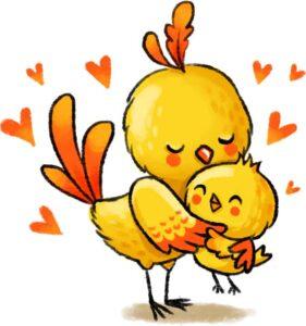 Птенец и мама